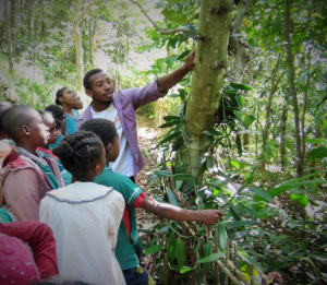 Rado, an eco-guide teaching children about conservation, nature and reforestation
